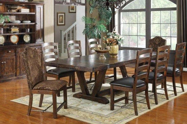 rustic traditional dining set
