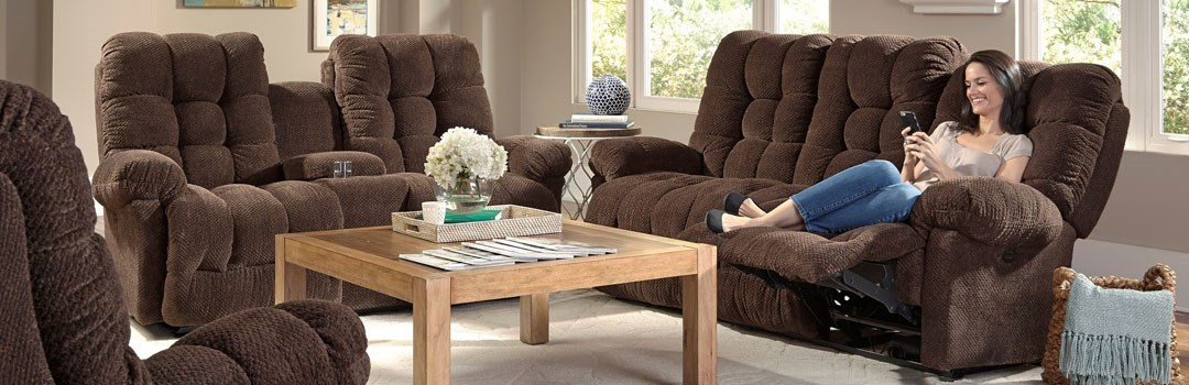 Brown Reclining Living Room Group