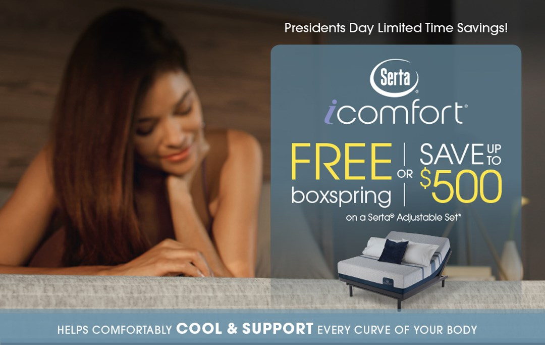iComfort Free Boxspring or save up to $500!