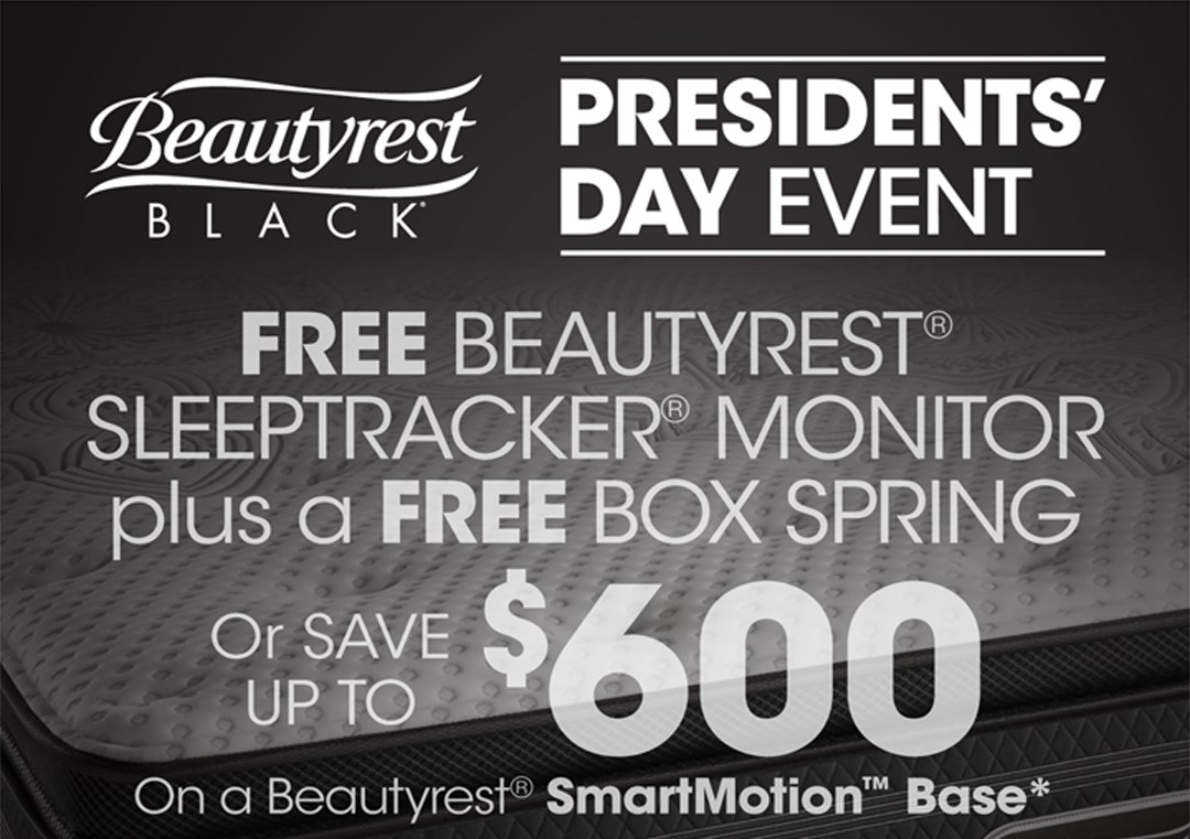 Beautyrest Black FREE Boxspring or Save up to $400!!!