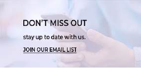 Don't Miss out. Stay up to date with us. Join our email list
