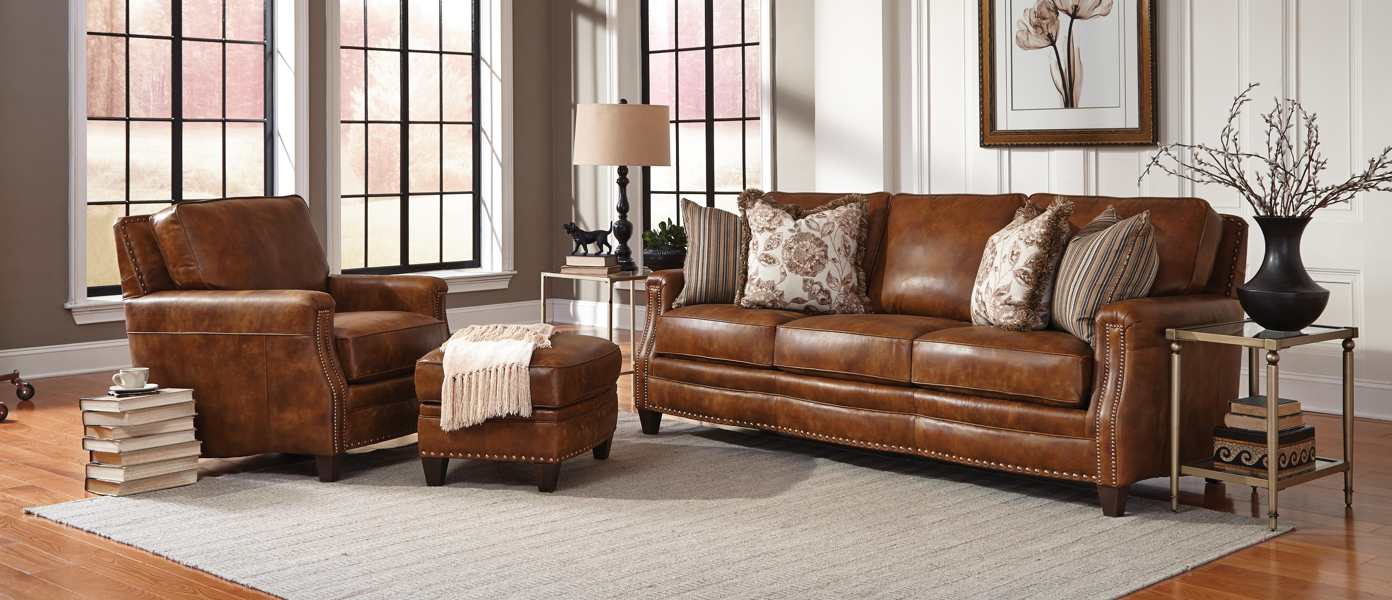 Leather Room with Pillows