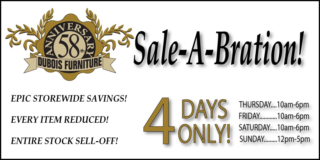 The Epic 58th Anniversary Sale Going On Now!