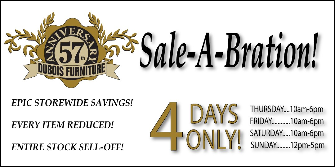 The Epic 57th Anniversary Sale Going on Now!  Storewide Savings!