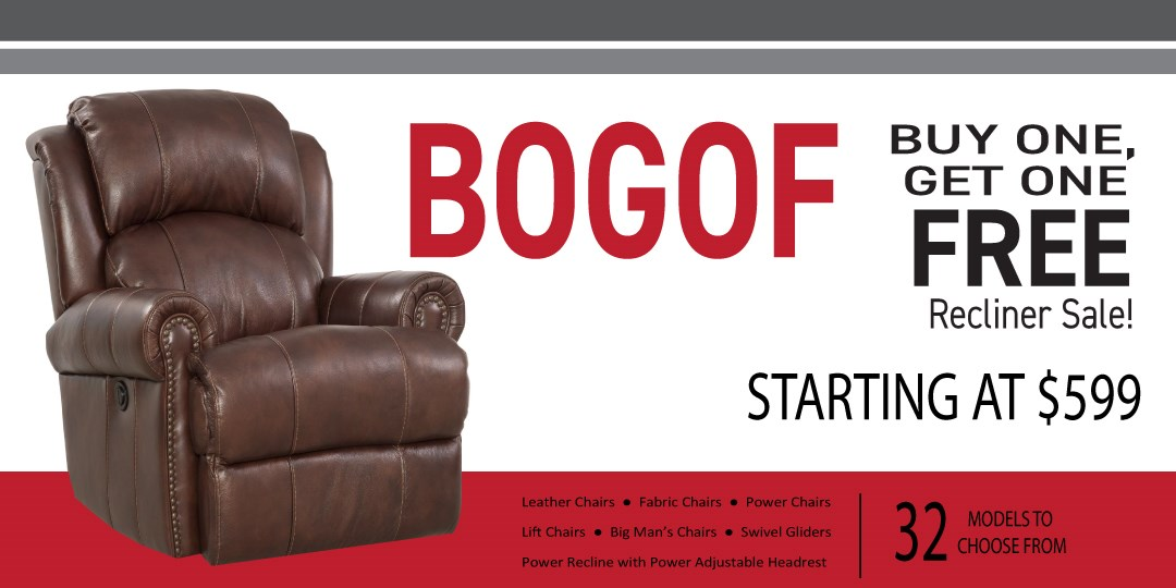Buy One Get One Free Recliner Sale!