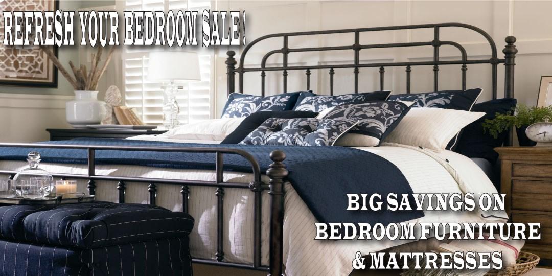 ALL BEDROOM FURNITURE & MATTRESSES ON SALE!