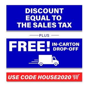 sales tax discount and free in carton drop off