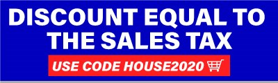 sales tax discount using code house2020