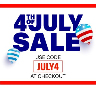 Use code july4 at checkout