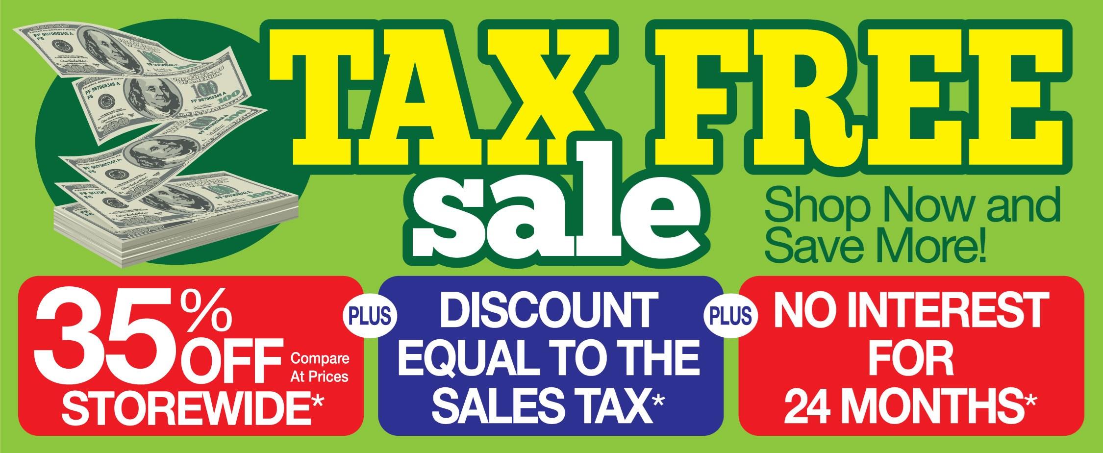 Tax Free Sale Household Furniture