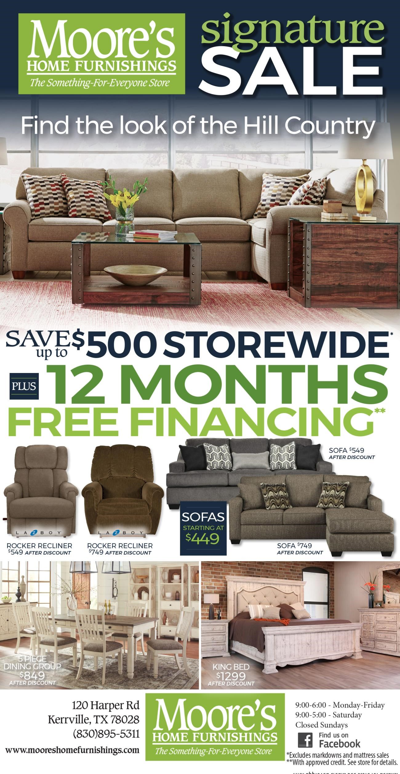 Save up to $500 Storewide Plus 12 Months Free Financing