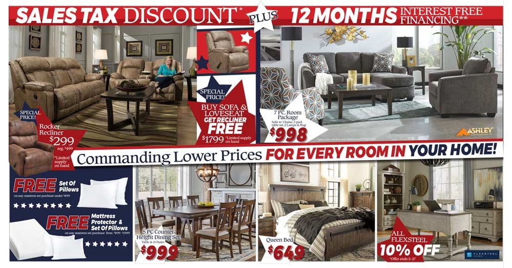 Memorial Day Sale! Discount Equal to the Sales Tax plus 12 Months Interest Free Financing!