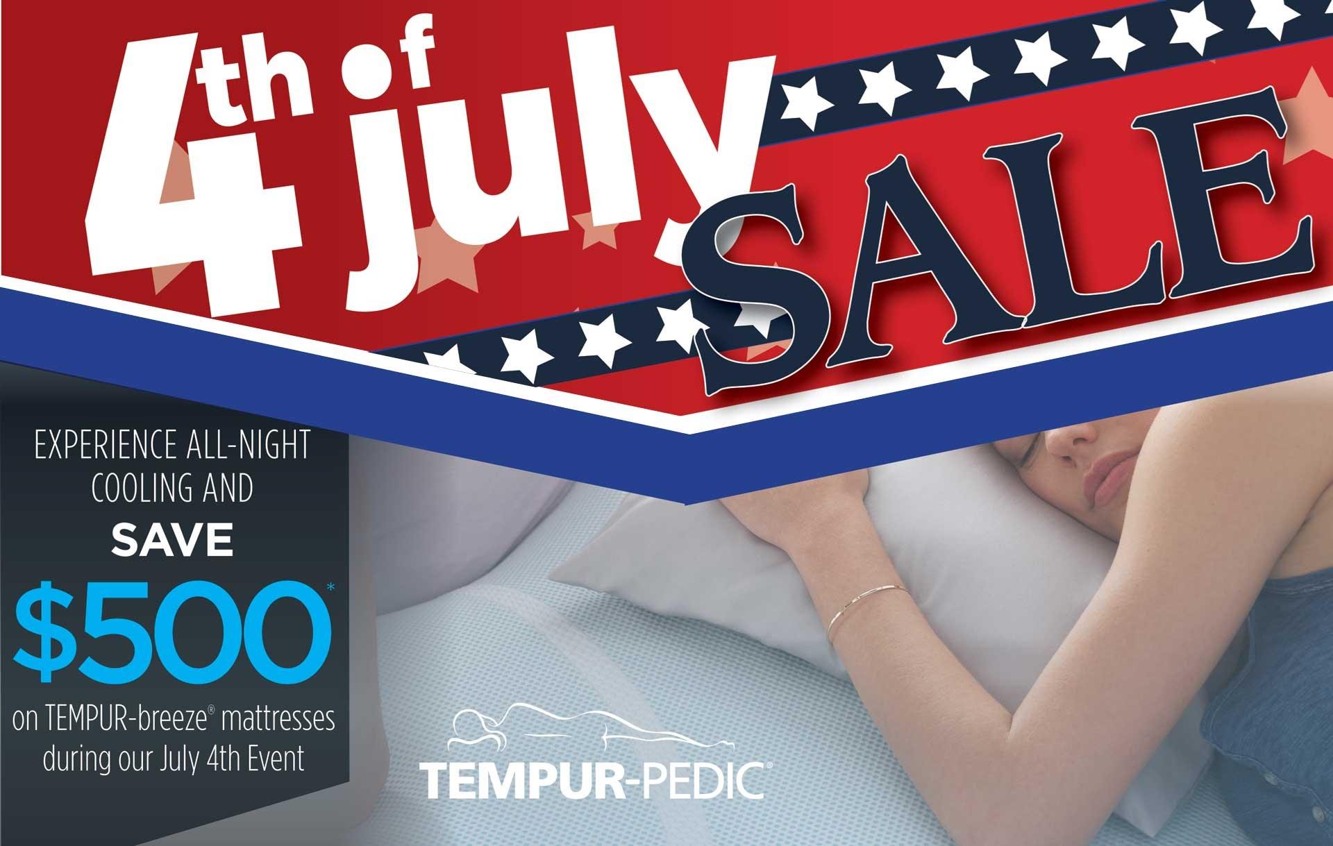 July 4th Sale! $500 Off TEMPUR-breeze mattresses