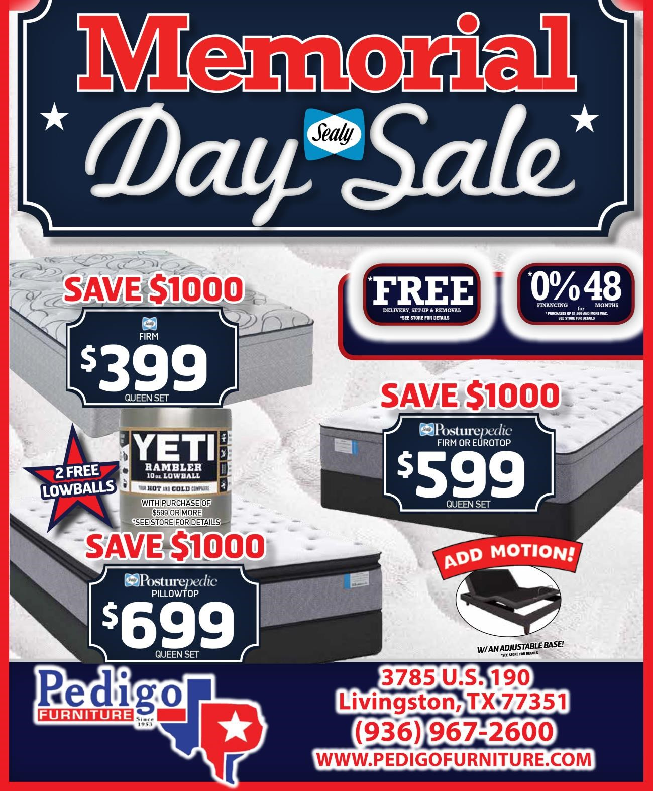 Store Sealy Memorial Day 1