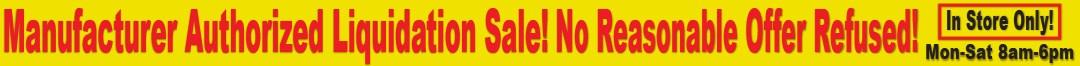 Manf. Liquidation Sale