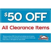 $50 Off Clearance Coupon