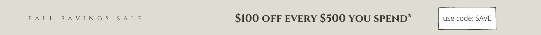 Fall savings sale