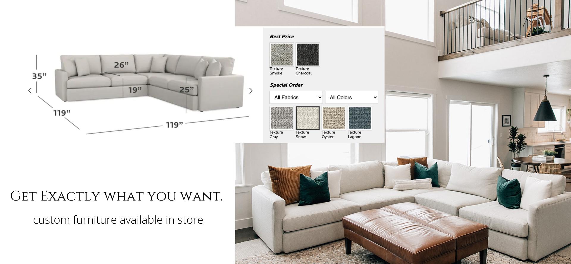 custom furniture in store
