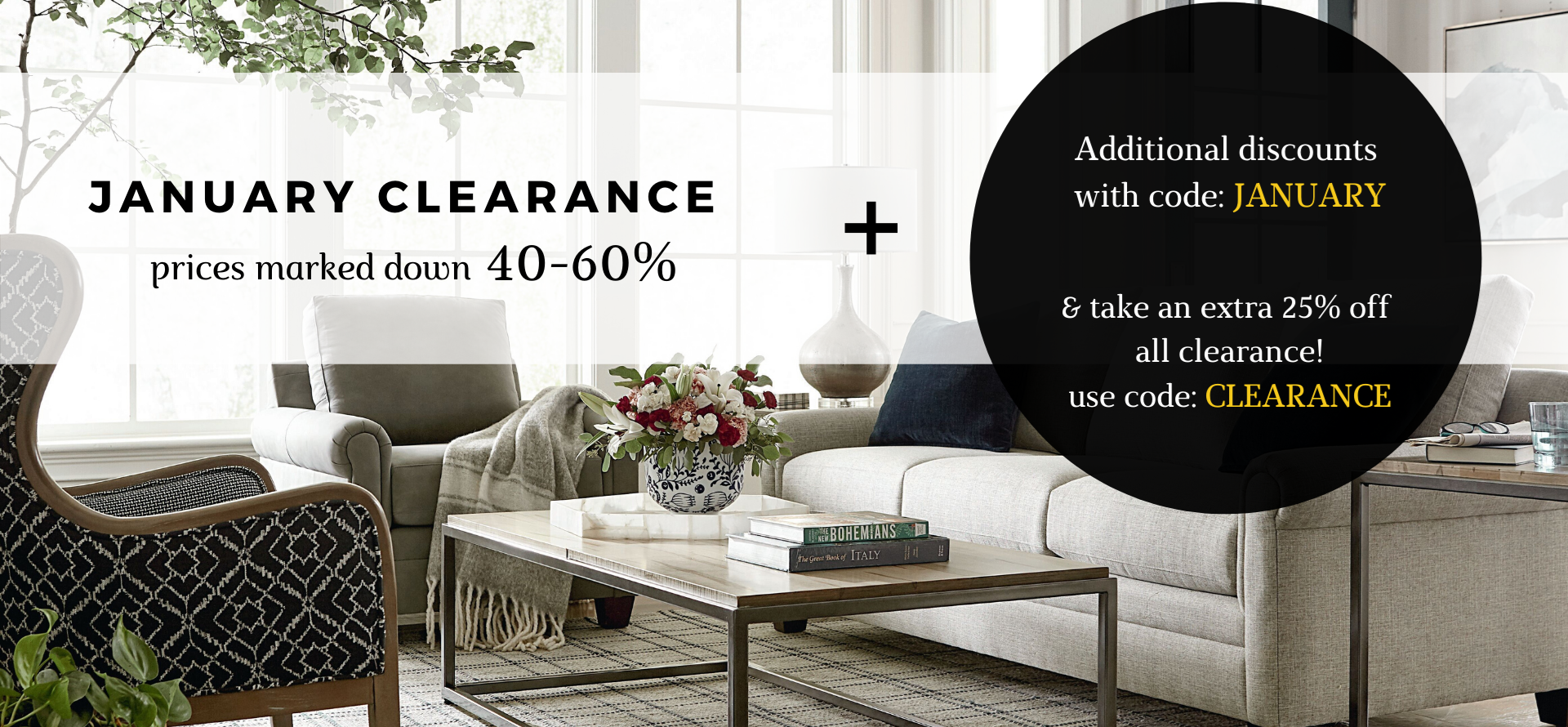 January Clearance Images