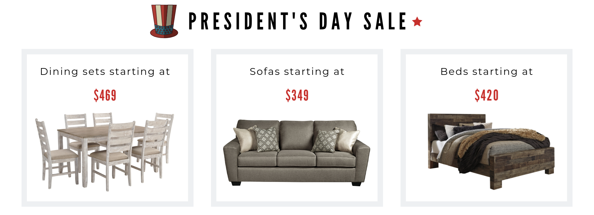 Presidents day sale image