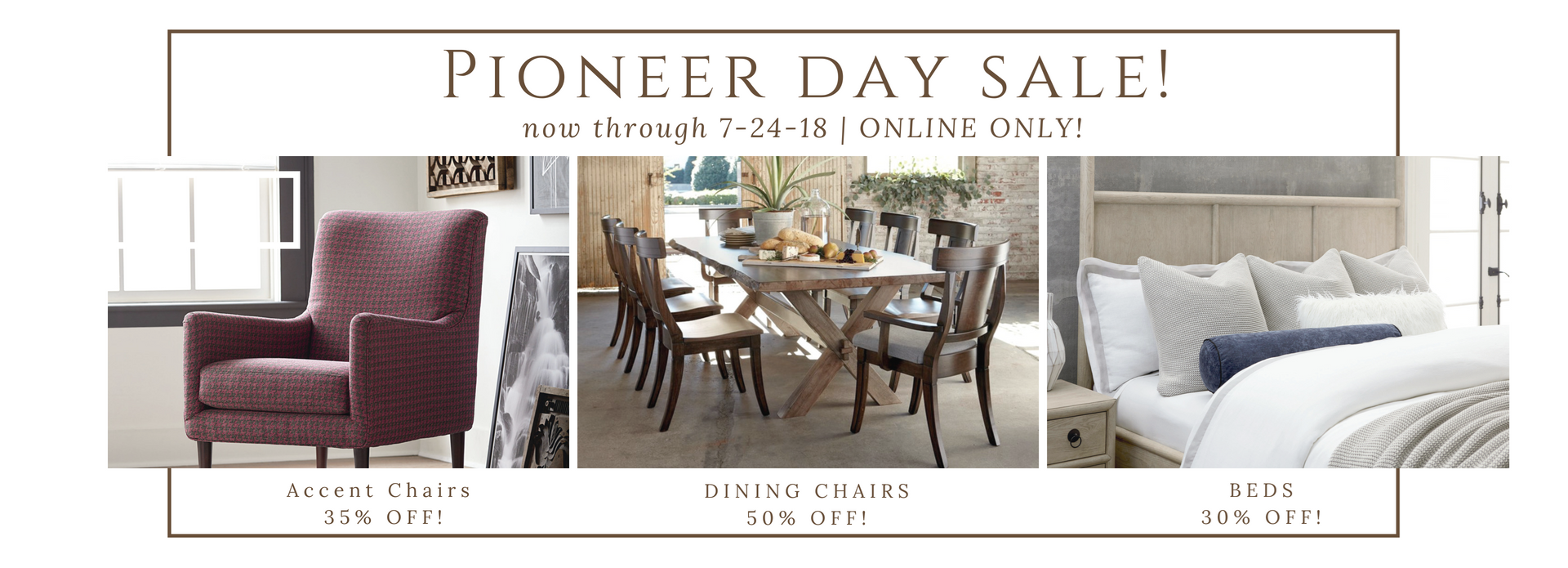 Pioneer day sale image