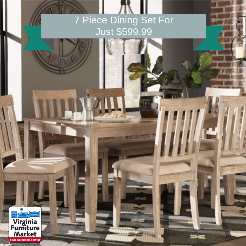 7 Piece Dining Set for $599