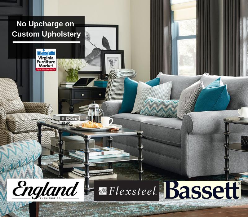 NO upcharge on custom upholstery
