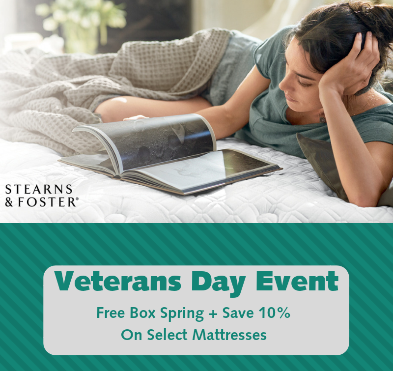 Stearns & Foster Vet Day Sale