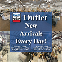 New arrivals everyday at our Outlet locations.