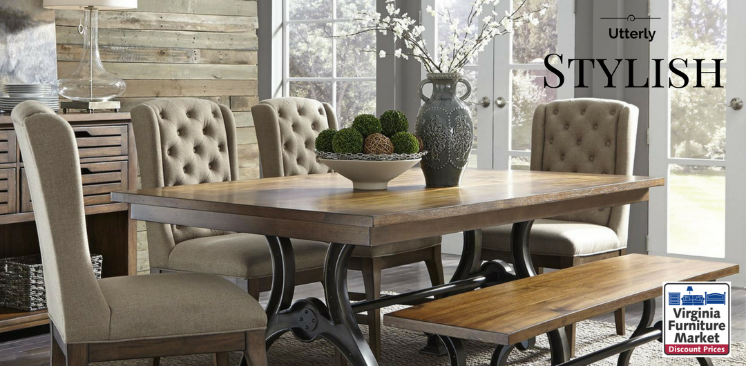 Rustic Dining Gather Family Friends Table Chair Wood