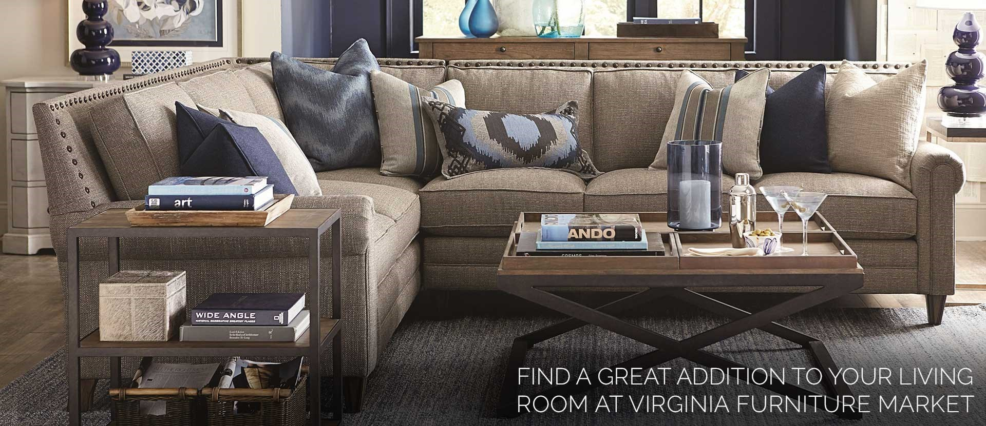 find a great selection of living room furnitutre at Virginia Furniutre Market!