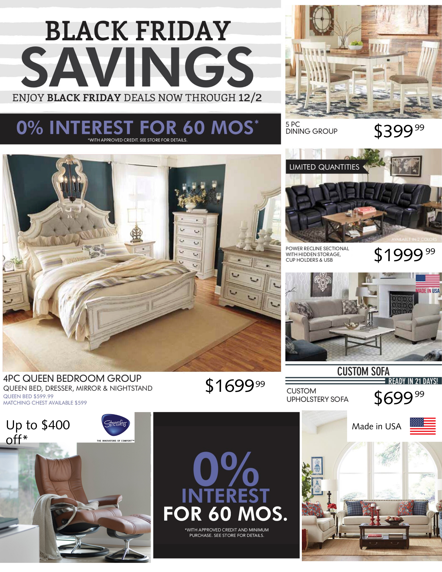 Black Friday Savings at Virginia Furniture Market