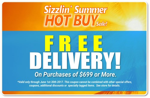 free delivery on purchases $699 or more!