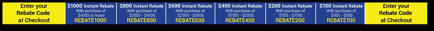 Rebate Codes