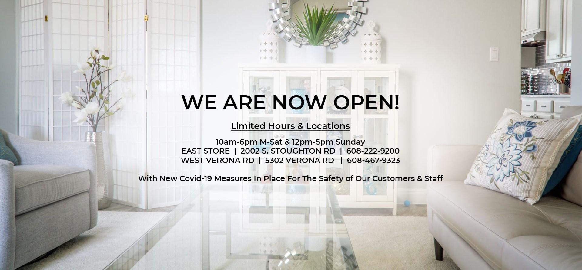 we're now open!
