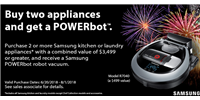 Samsung POWERbot with Appliance Purchase