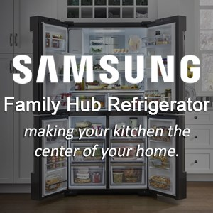 Samsung Family Hub Refrigerator: making your kitchen the center of your home.