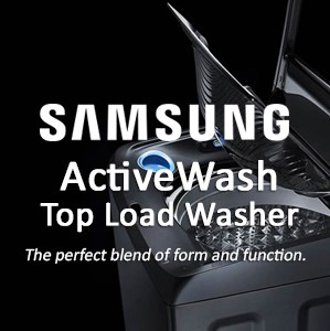 Samsung Activewash Top load washer: the perfect blend of form and function.
