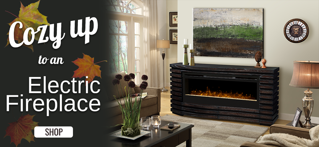 Cozy Up! Shop Electric Fireplaces!