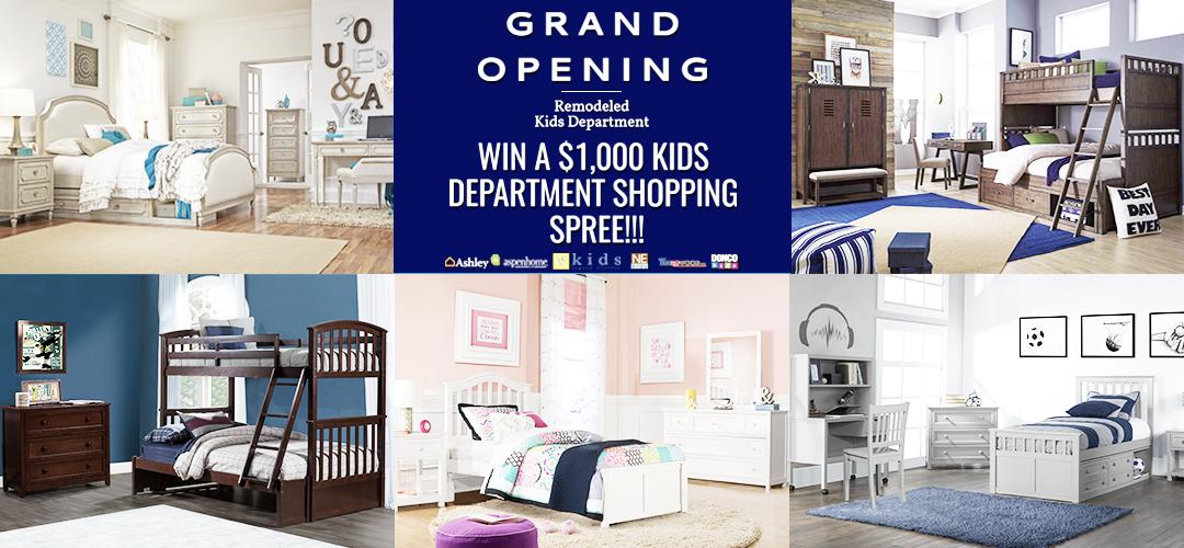 WIN A $1,000 KIDS BEDROOM SHOPPING SPREE!