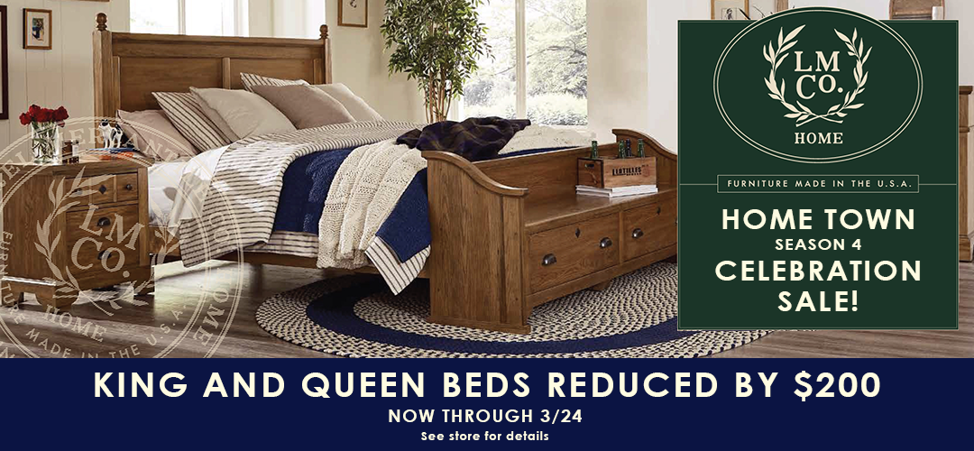 Laurel Mercantile Beds Now Reduced by $200 - see store for details