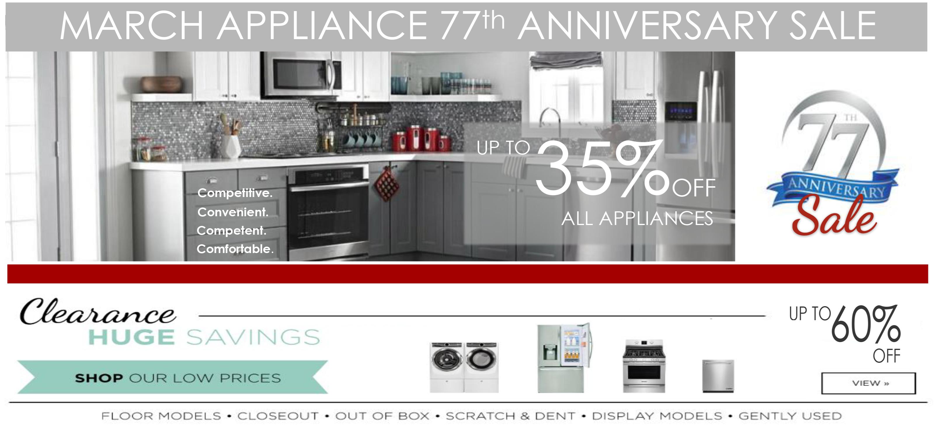 Huge Savings on Appliances!