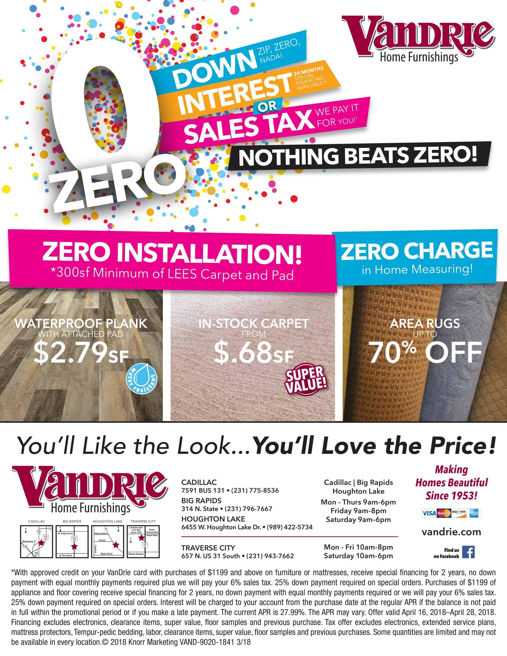 Triple Zero Sale