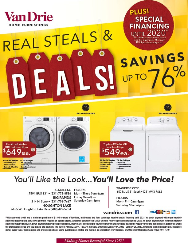 up to 76% off appliances