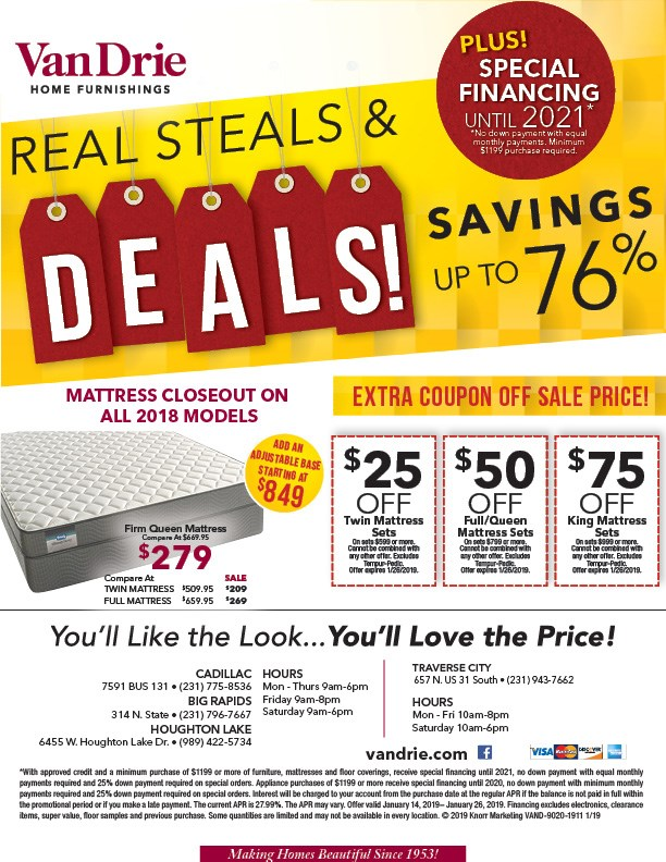 up to 76% off deals on mattresses