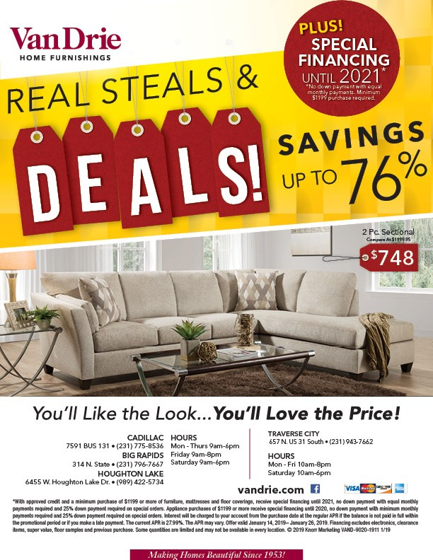Savings up to 76% on living room furniture