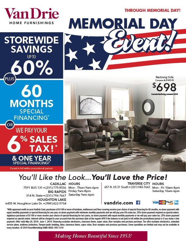 living room furniture vandrie home furnishings cadillac rh vandrie com