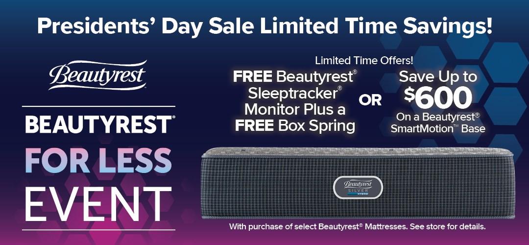 Prsidents' Sale Beautyrest Promotion