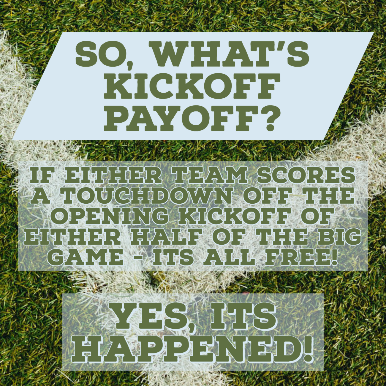 What's Kickoff Payoff?!