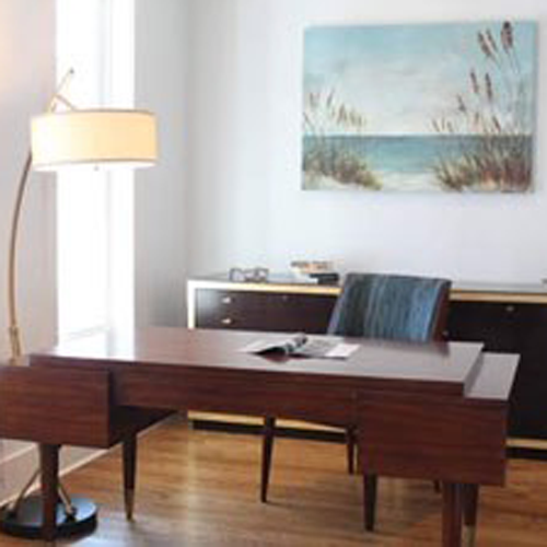 office with wooden desk